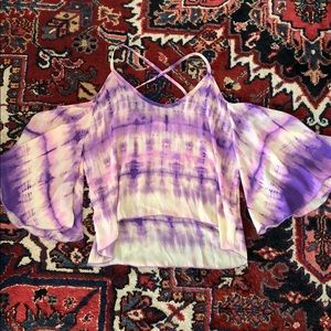Tobi purple tie dye tank top